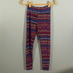 NWOT LuLaRoe OS Tribal Aztec Print Leggings